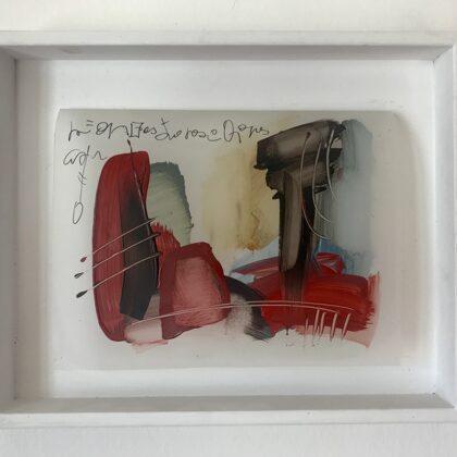 Segno riflesso, 2018, olio su foglio poliestere, 32x26