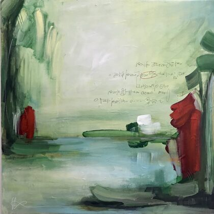 Ricordo di Maggio, 2021, tecnica mista su tela, 60x60 cm