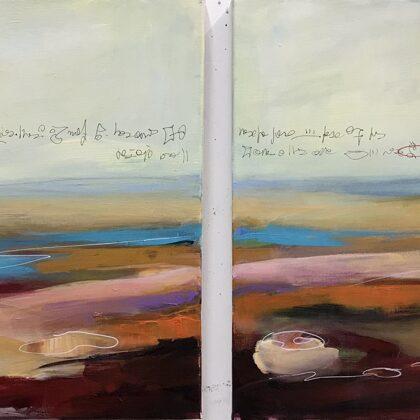 Nella valle di Odigitria, 2021, dittico, acrilico su tela, 50x100 cm